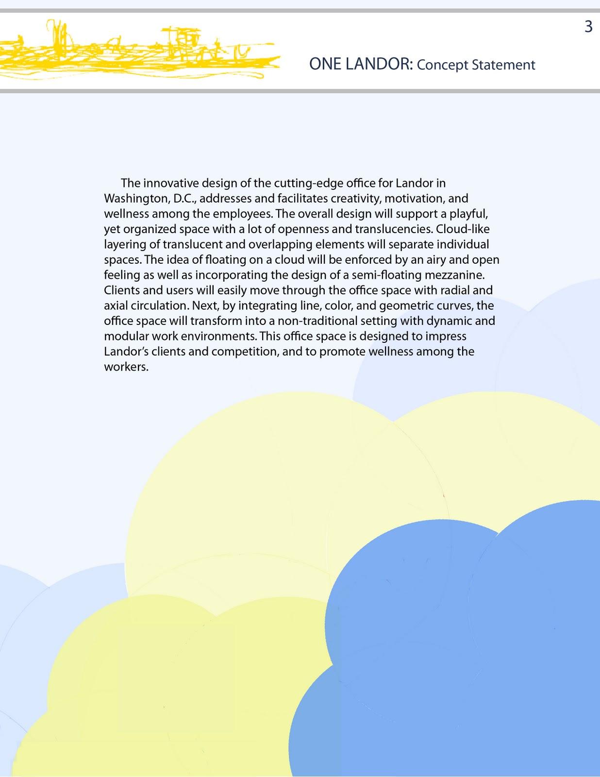 Aubrey Duncan Landor Office Design Project Process Book Work