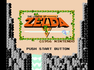 Original Legend of Zelda Main Menu Screen NES Nintendo
