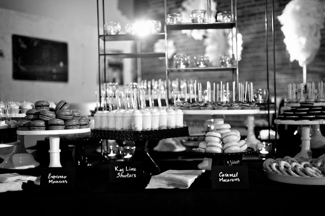 Black and White Mini Dessert Table - Minneapolis