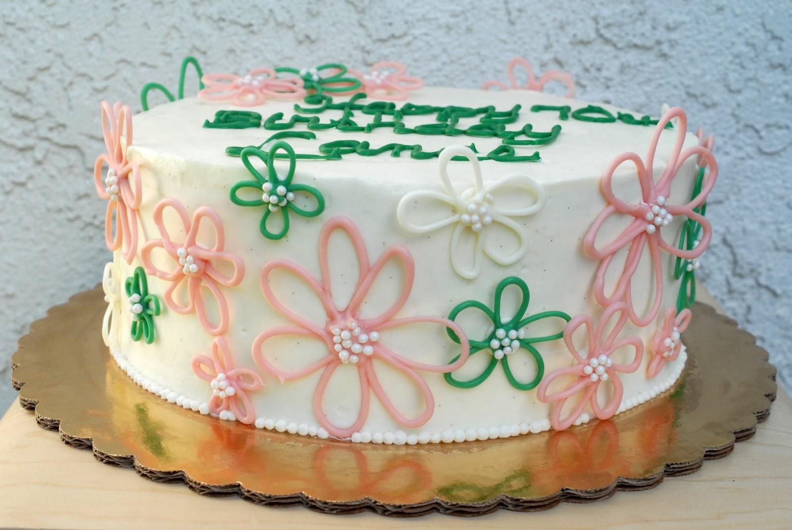 Night Baking Dads 70th Birthday Lemon Cake