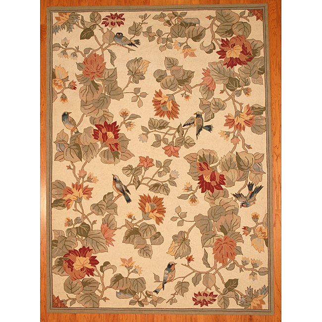 Pottery Barn Bird Floral Rug Decor Look Alikes
