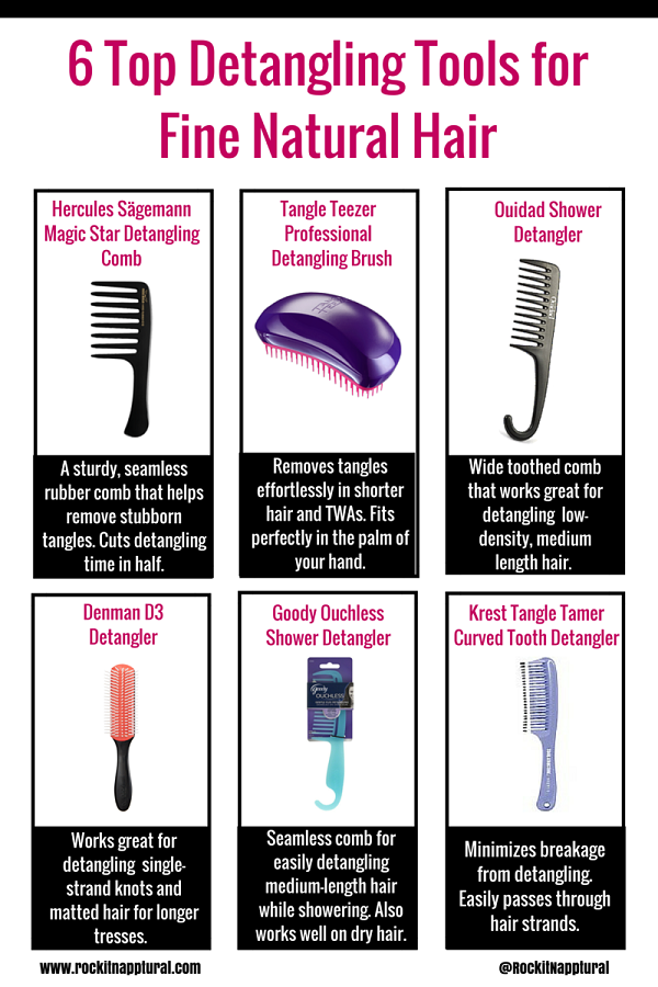 6 Best Detangling Tools For Naturals With Fine Low
