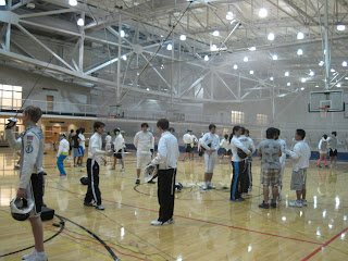 Fencers on the court