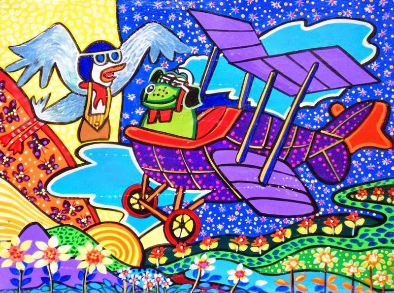 pinturas-modernas-de-niños