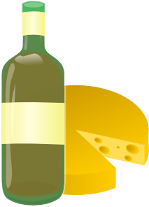 green bottle with cheese clip art