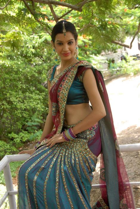 diksha panth new saree , diksha saree latest photos