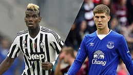 With Pedro on board at Stamford Bridge, Chelsea may be turning their sights on Paul Pogba, left, and John Stones.
