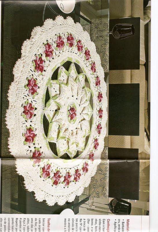 tapetes redondos com barbante barroco