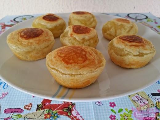 pão caseiro na cupcake maker