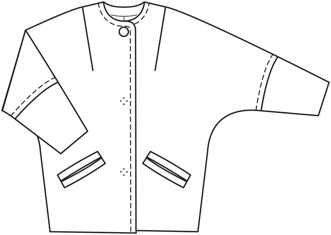 Выкройки простого пальто