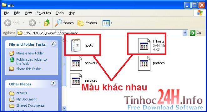 cách lưu file host trên windows xp