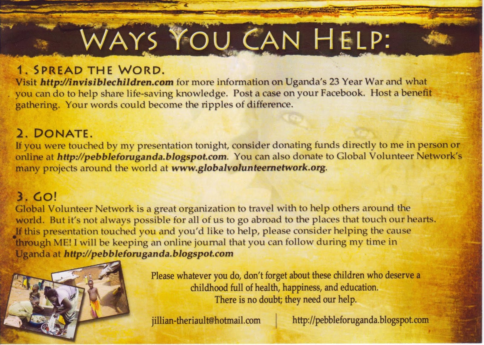 Jillian R. Theriault: Fundraiser Flyer Example