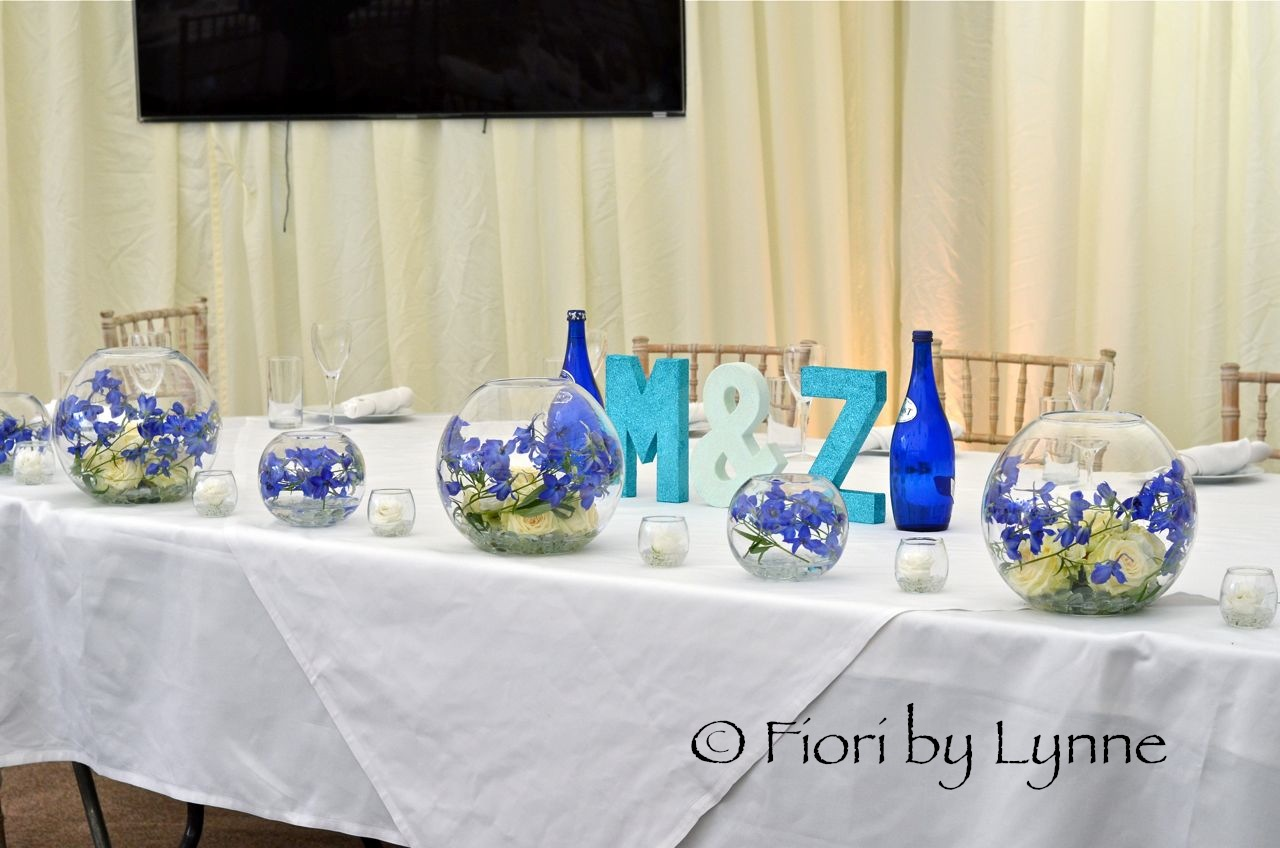 Unique Wedding Table Decorations Fish Bowls Crest - The Wedding ...