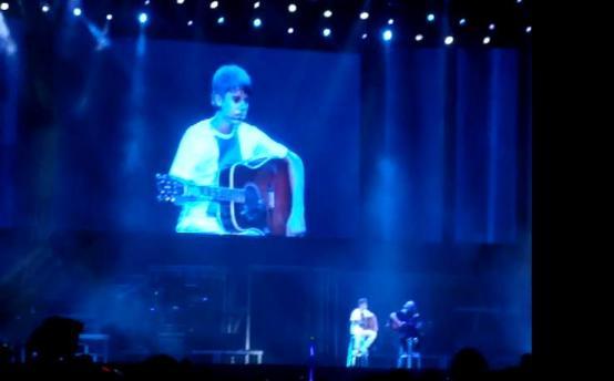 Foto do Justin Bieber em show no Rio