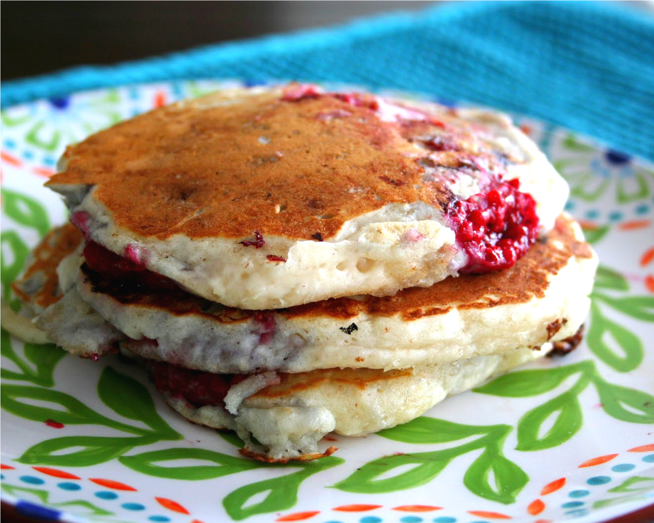 Chestnut And Almond Pancakes With Sauteed Plums Recipe — Dishmaps
