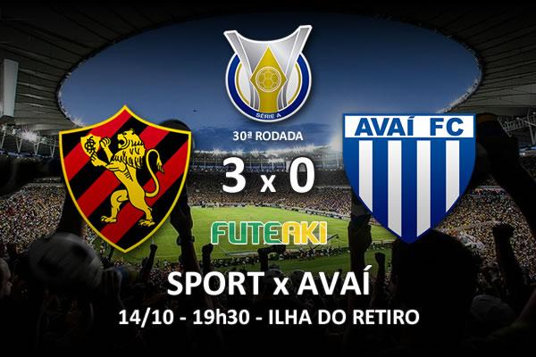 Veja o resumo da partida com os gols e os melhores momentos de Sport 3x0 Avaí pela 30ª rodada do Brasileirão 2015.