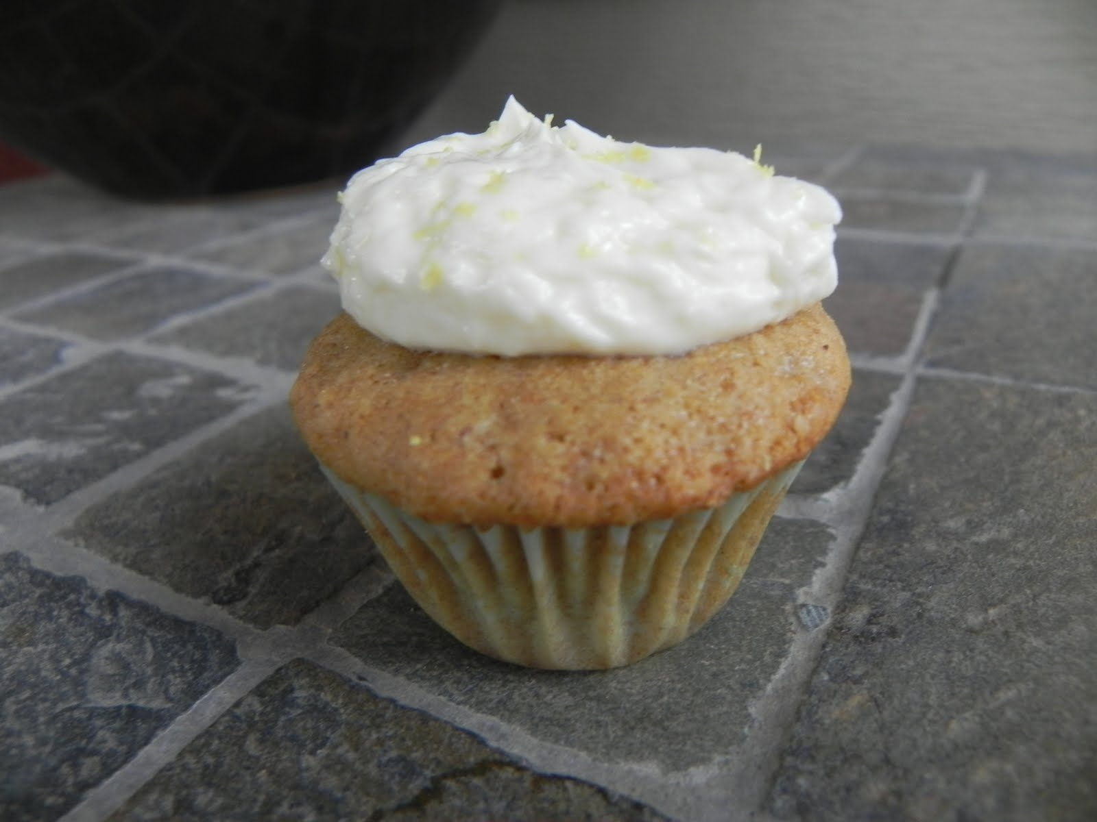 ... At Home: Mini Spiced Ginger Cupcakes with Lemon Cream Cheese Frosting