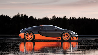 Bugatti in Rain pc wallpaper free