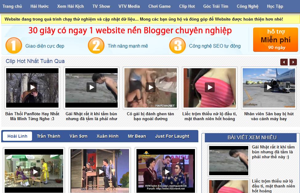 Template Blogspot Trang Hài Hước, Theme Tin Tức Cho Blogger Giống Hai3s Đẹp