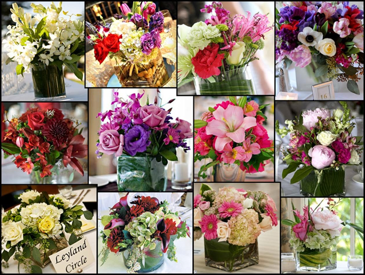 Wedding table decorations flower ideas http refreshrose for Floral arrangements for wedding reception centerpieces