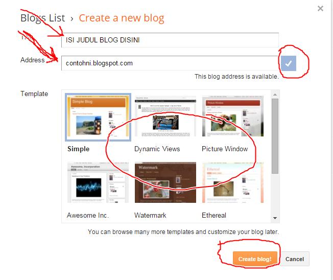 Gimana yah Cara membuat Blog ? BEGINI CARANYA