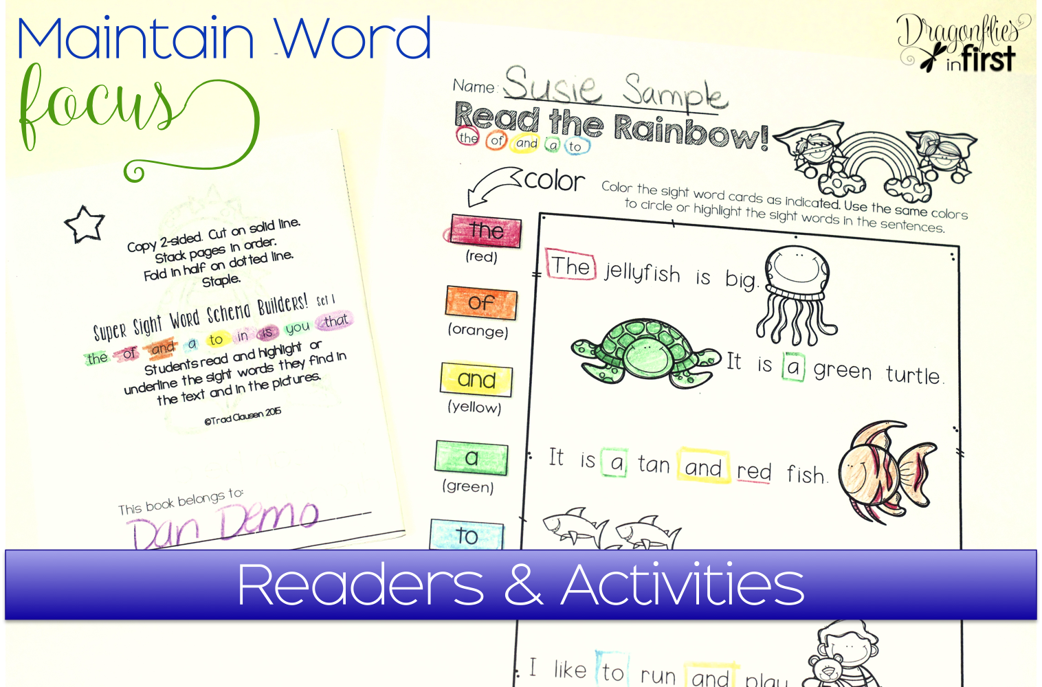 in by Sight Word  word Become identification  Hero First Traci  Dragonflies worksheets sight a Clausen