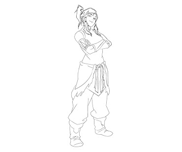 #5 Korra Coloring Page