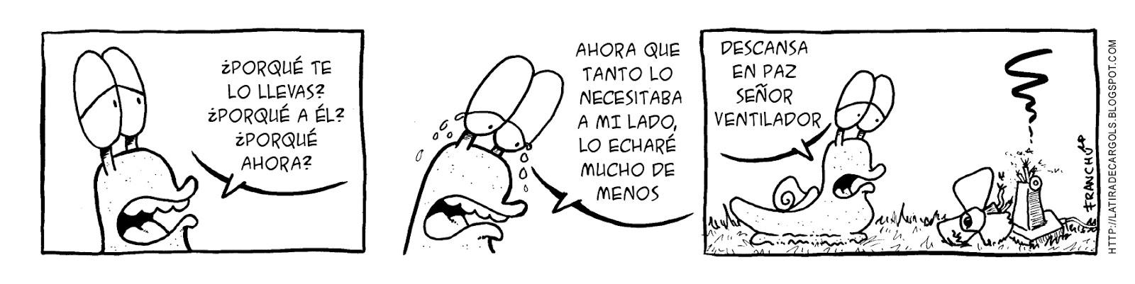 Tira comica 134 del webcomic Cargols del dibujante Franchu de Barcelona