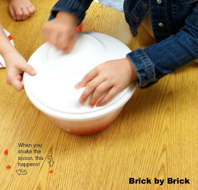 Salad Spinner Painting (Brick by Brick)