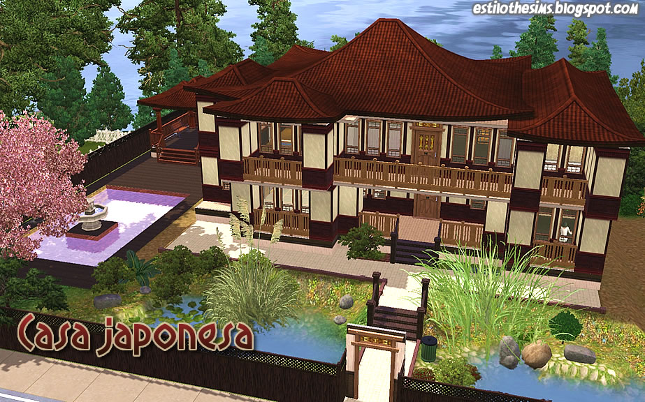 Estilo the sims casa japonesa for Sala de estar the sims 4