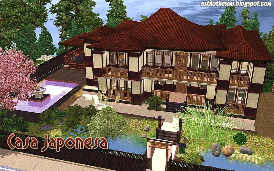Estilo the sims casa japonesa for Casa clasica japonesa