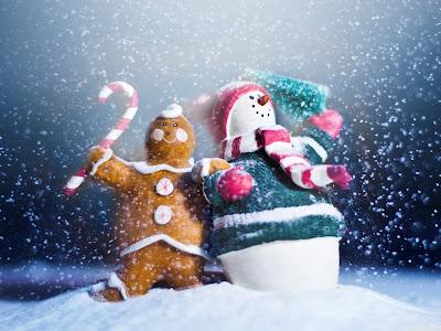 Galleta y Muñeco de Nieve