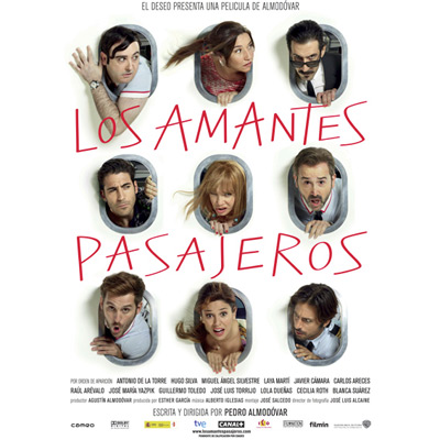 los amantes pasajeros película Almodóvar actores reparto