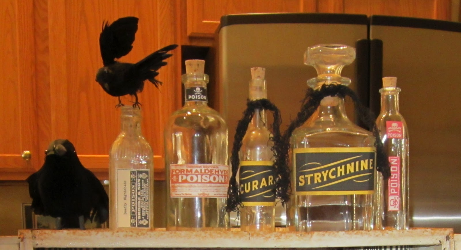 My artistic side witch 39 s medicine cabinet for halloween for Halloween medicine bottles