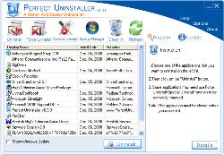 برنامج Perfect Uninstaller للازالة التثبيت