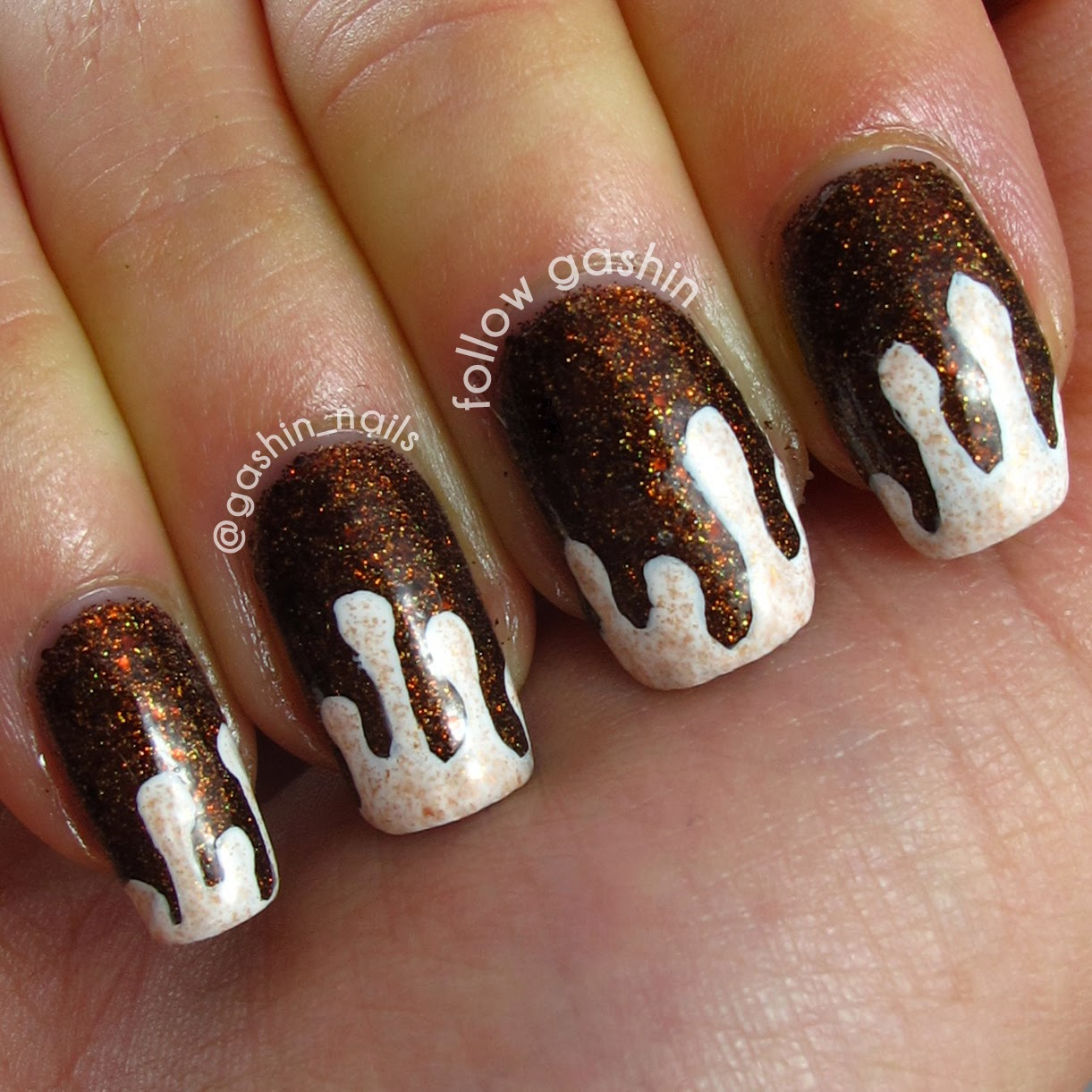 Nail Cake October 2013: Follow Gashin: Spice Cake Drippy Nails