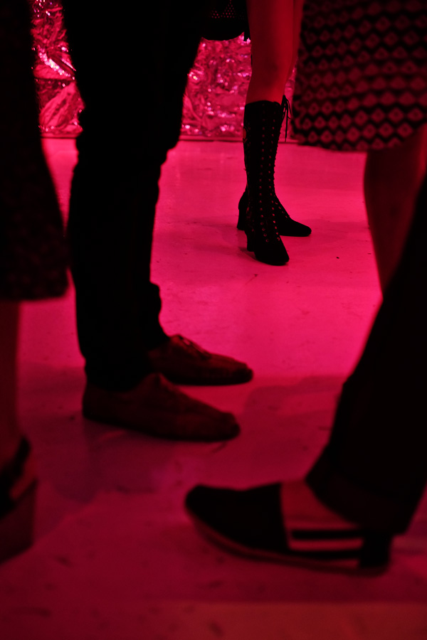 Shoes. Tony Mott book launch Alphabet A-Z Rock 'N' Roll Photography. Photo by Kent Johnson