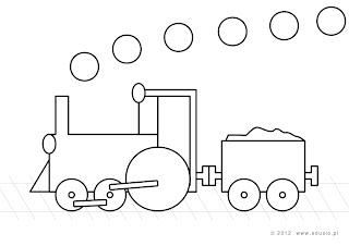 kolorowanki dla przedszkolaków do wydruku-pociąg