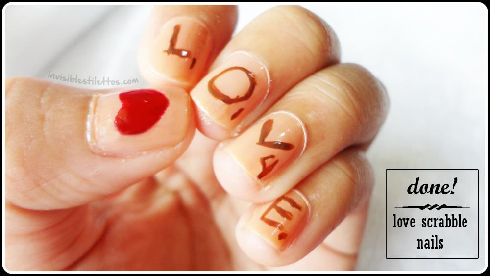 Love Scrabble Nails