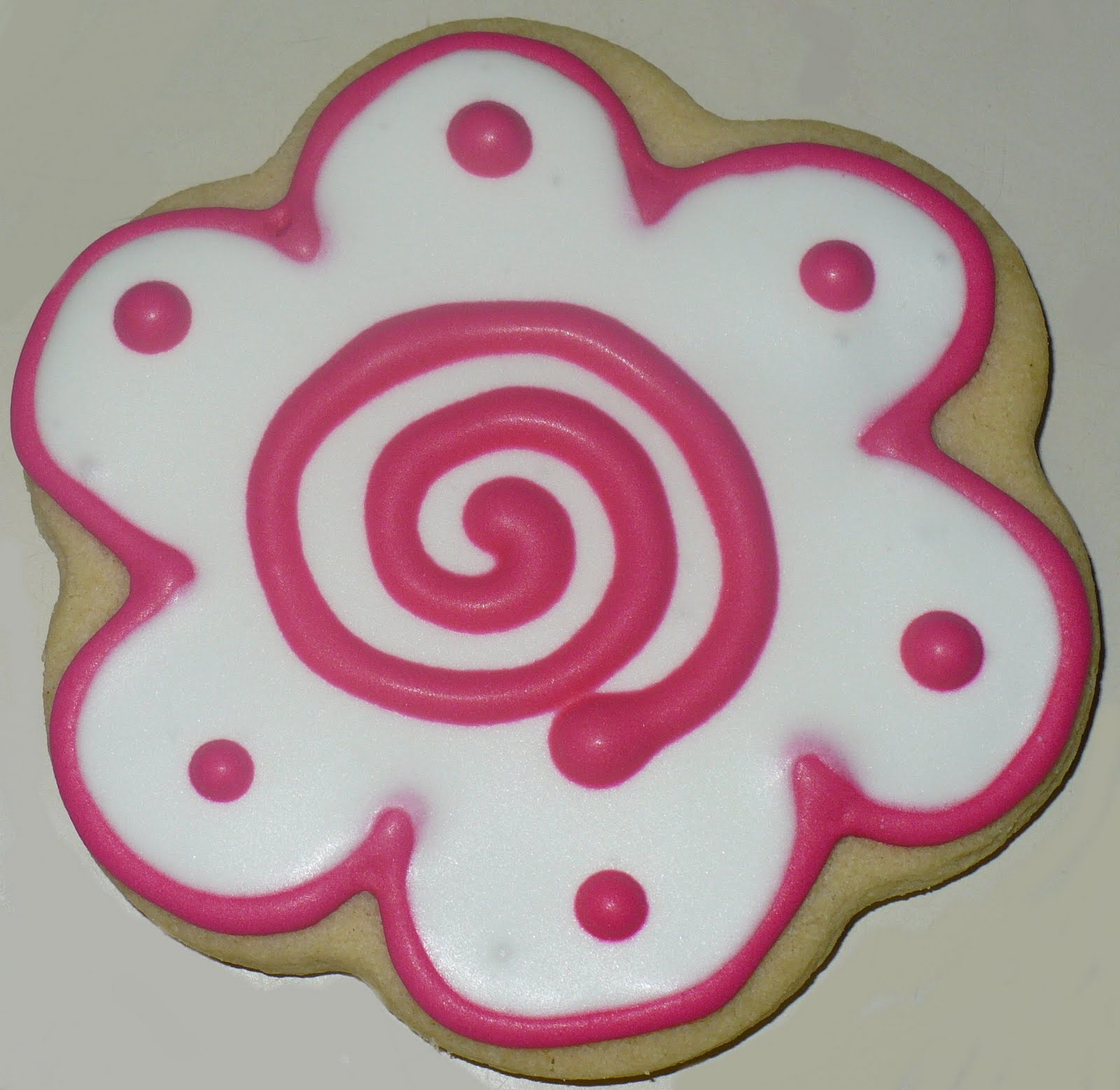 the sweet shop cookie company swirl flower cookies. Black Bedroom Furniture Sets. Home Design Ideas