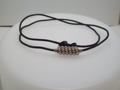 All Wired Up TOO: Win a Mans Coiled Bead Leather Cord Necklace
