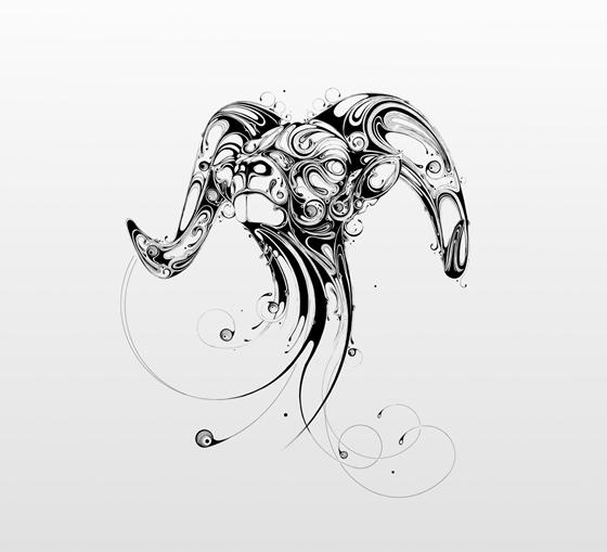 Desenhos em preto e branco de Si Scott - 03