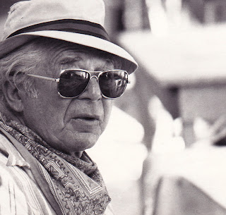 "Billy Wilder on the ""Fedora"" set"