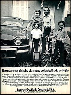 Seagram - Destilaria Continental, 1973; os anos 70; propaganda na década de 70; Brazil in the 70s, história anos 70; Oswaldo Hernandez;