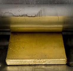folha de ouro laminação