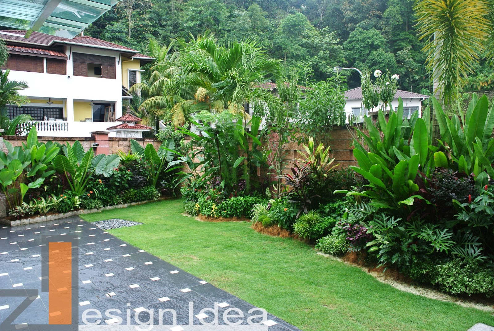 Tropical outdoor living tropical garden design build for Tropical garden design