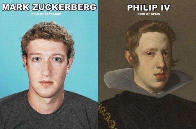 Mark Zuckerberg Looks Like King Philip IV