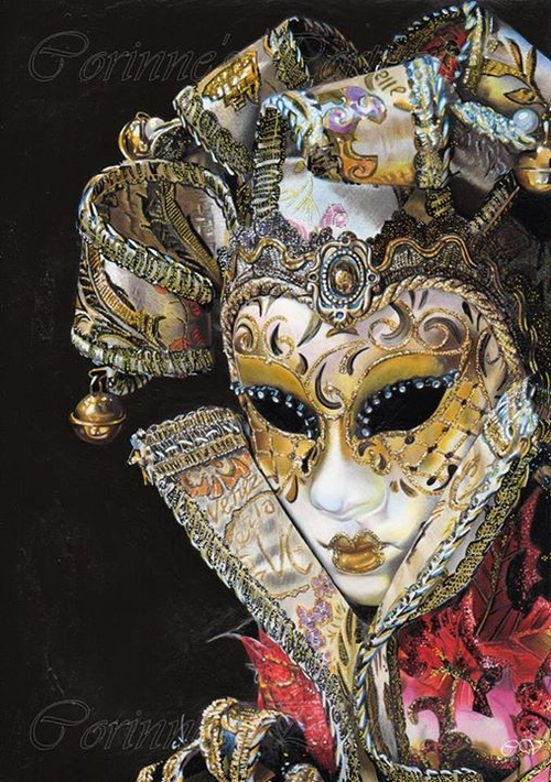 21-Venetian-Opera-Mask-Corinne-Vuillemin-WIP-Color-Drawings-of-Actors-and-Animals-www-designstack-co