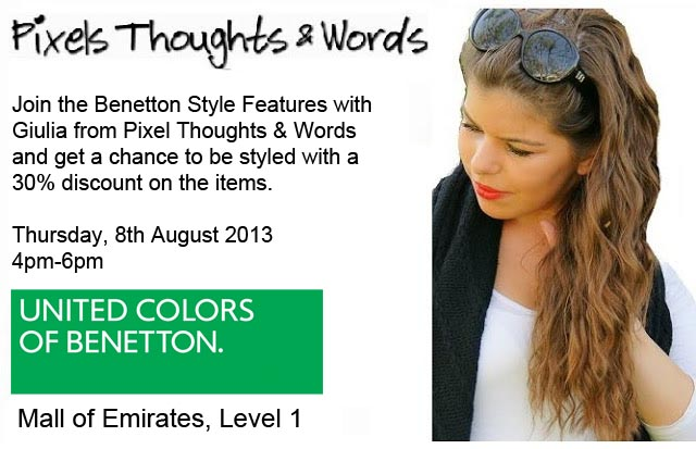 Get Styled By Me Thursday At Benetton, Mall Of The Emirates