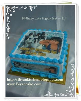 Kue Ulang tahun Happy Feet